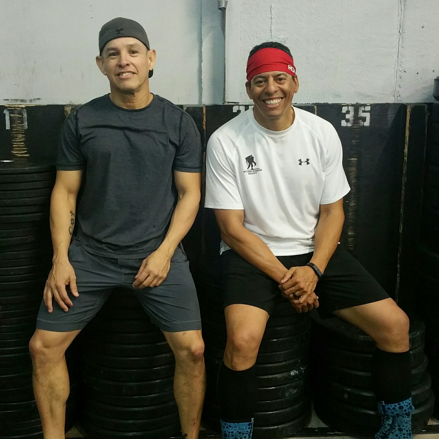 Rene (left) and Marc (right) are this week's featured Skyline athletes signing up for the CrossFit Open on Feb 25th. They are both in the Masters Division (40yrs and older) and will be Marc's 2nd year participating and  Rene's 3rd year.