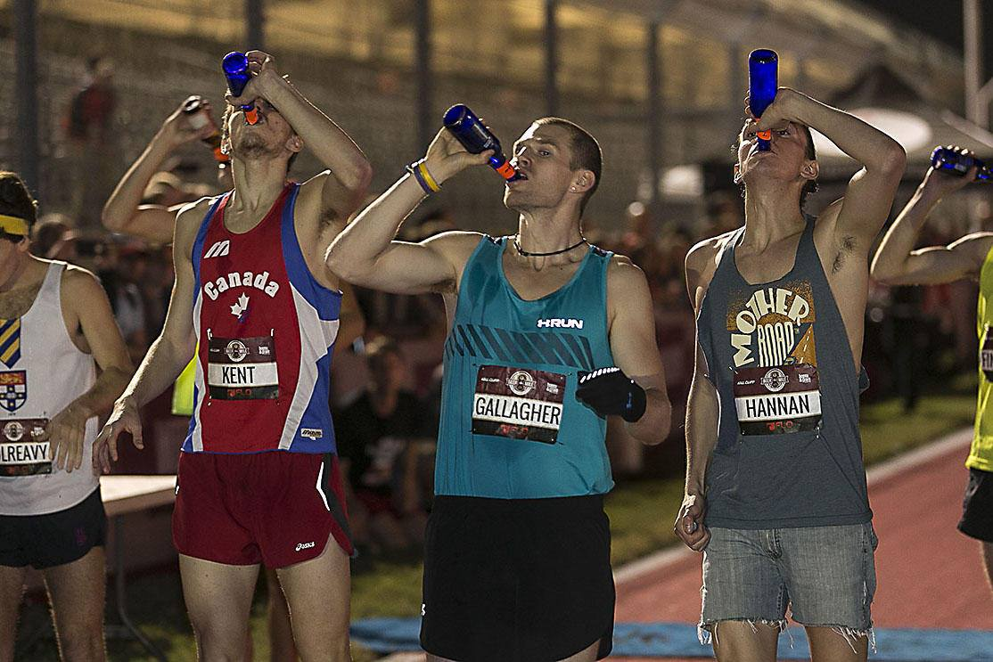 Friday February 12th 7pm   Funday Friday is back! We will be hosting an in-house competition where teams of two will run 2 miles total, alternating every 400m. Not to mention you must chug a full beer before starting each leg. Offical Rules here:  http://www.beermile.com/rules   There will be food and games afterwards if you want to hangout. Each team must bring their own beer and a side dish. Let the Games begin!!!