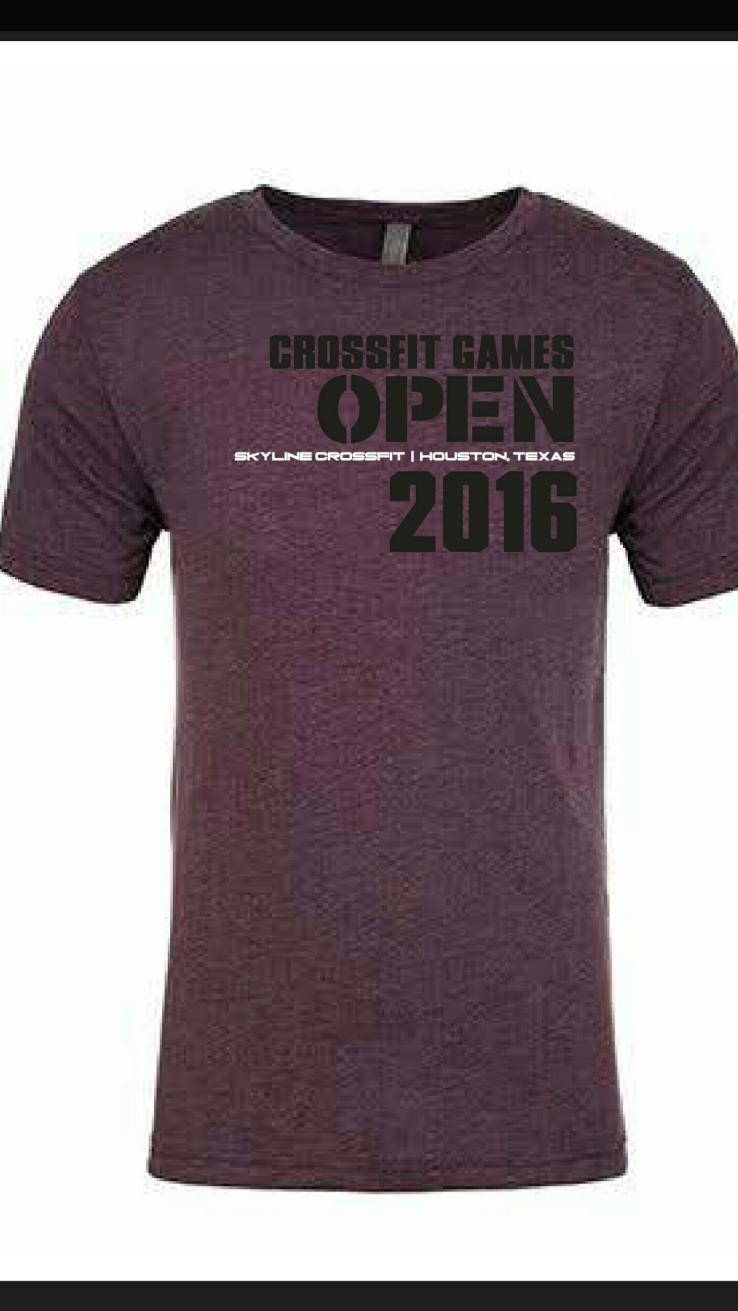 Sign up for your 2016 CrossFit Open shirt! Sign ups at front desk.