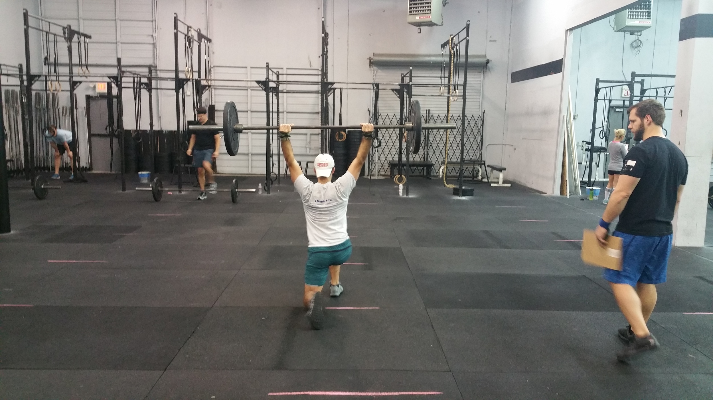 Due to limited space and the long duration of the workout we will be starting at 4pm. I would recommend coming in early and knocking it out so your wait time is less.