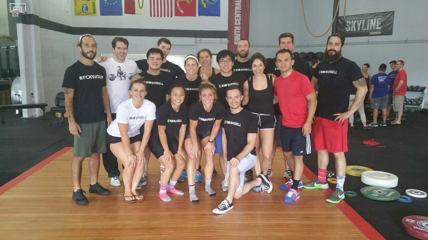 Kim Barbell team after meet on Sunday. Got a couple qualified for the American Open.