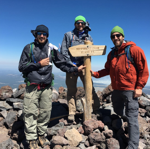 Skylines Dave Boyea(left)at Humphreys Peak 12,633 ft above sea level.