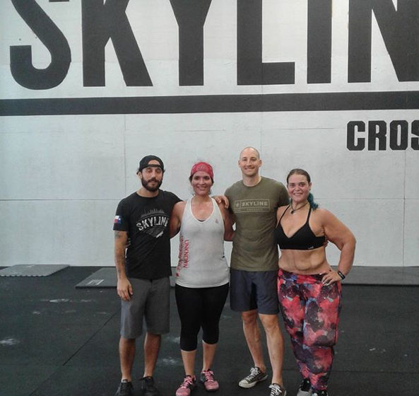 You are looking at a total weight loss of 447lbs between these two ladies. These are by far the two most inspirational athletes to set foot in Skyline CrossFit. Marisela Miranda (left) has lost a total of 187lbs and Angie Sanders (right) as seen on the CrossFit Journal has lost a total of 260lbs. Amazing! For more info on Angi check out Skyline News below for her article in the CrossFit Journal.