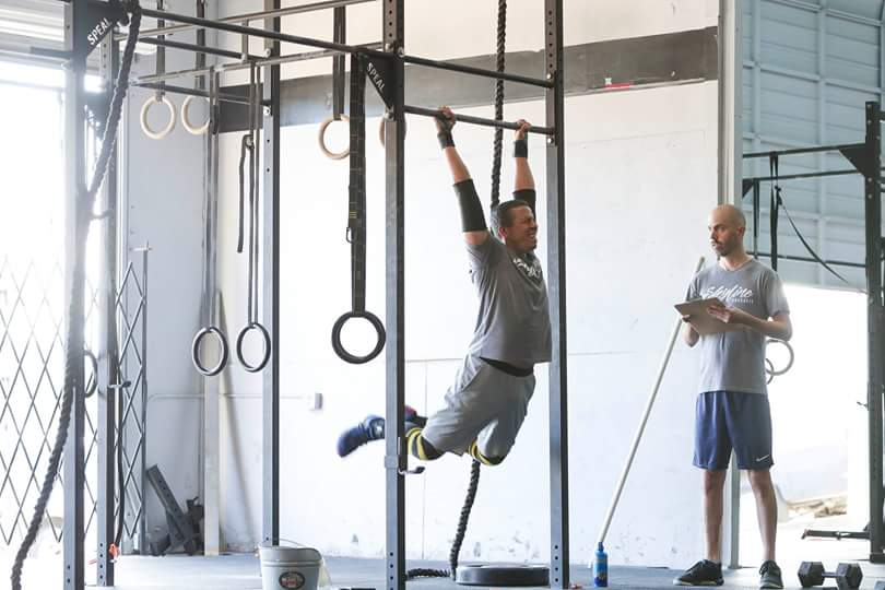 Here are long time members of Skyline CrossFit. Cyril (right)moved here from France a few years ago. Marc (left) last year suffered a broken ankle and with the help of his fit lifestyle the injury is a distant memory.