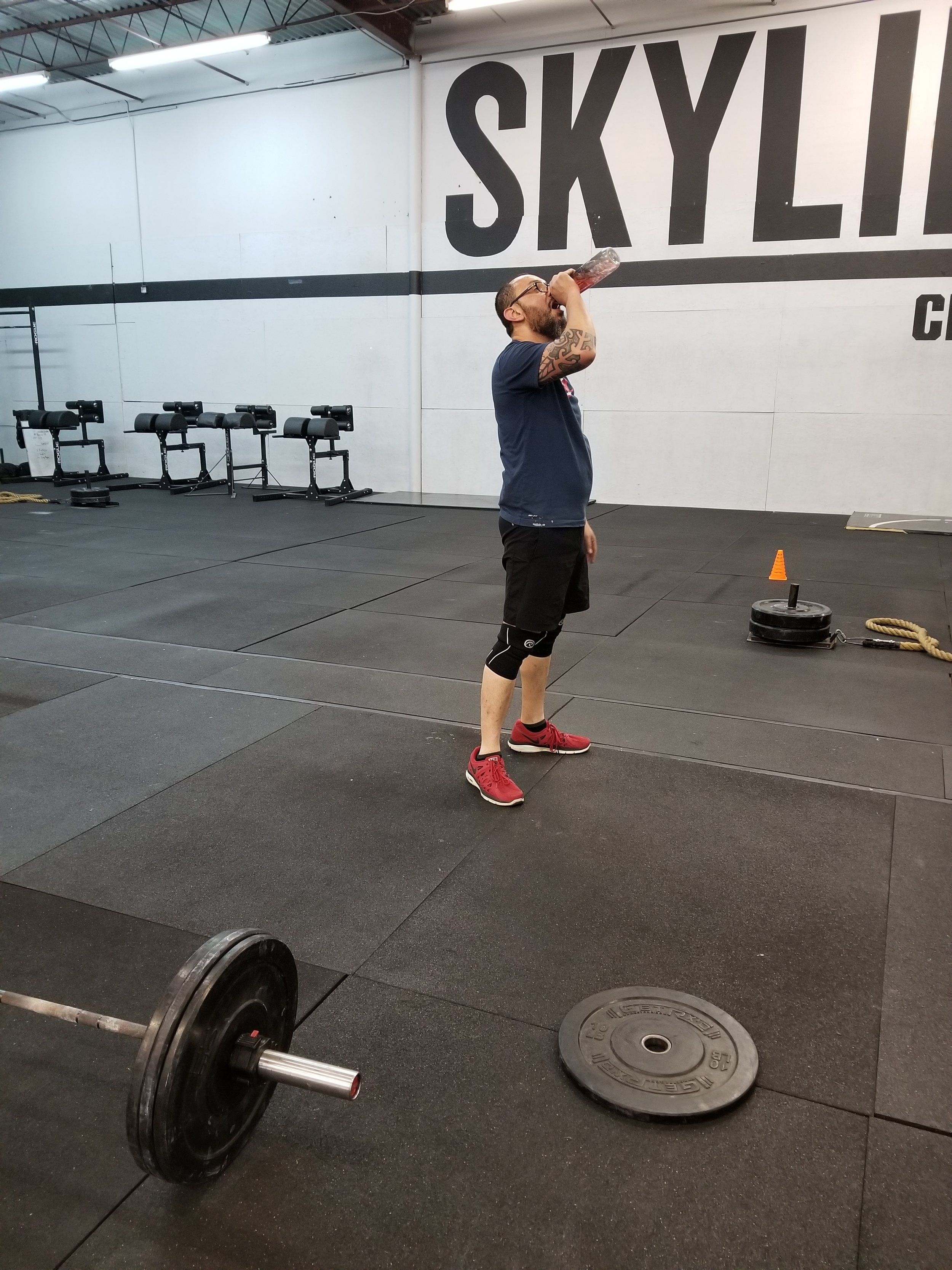 This is Carlos Castillo. He came in to Skyline with chronic lower back pain that made everyday tasks difficult. He would feel this pain from the moment he woke up to the the time he went to bed. I told him he needed to strengthen his core to help stabilize the the spine and it would stop the pain. Though Carlos was very hesitant when I told him CrossFit would help relieve his chronic back issues, he started up and now over a year and half later Carlos is fitter than ever and pain free!   How long have you been at Skyline CrossFit?   - 19 months     What workout regimen did you do before crossfit and how long?   - Running 8-10 Miles 2-3 times per week, Few years      What chronic injuries did you have?   -Constant Lower back pain,compressed L4 and L5 ,Pain on my right knee.     Do you have in underlying issues or injuries after 1 year of crossfit?   No injuries at all     Do you think CrossFit helped these injuries. If so why?   Yes. My lower back pain is gone and my mobility has increased.