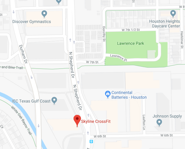 Lawrence Park is right across the street from Skyline. Meet at the Park not at the gym!