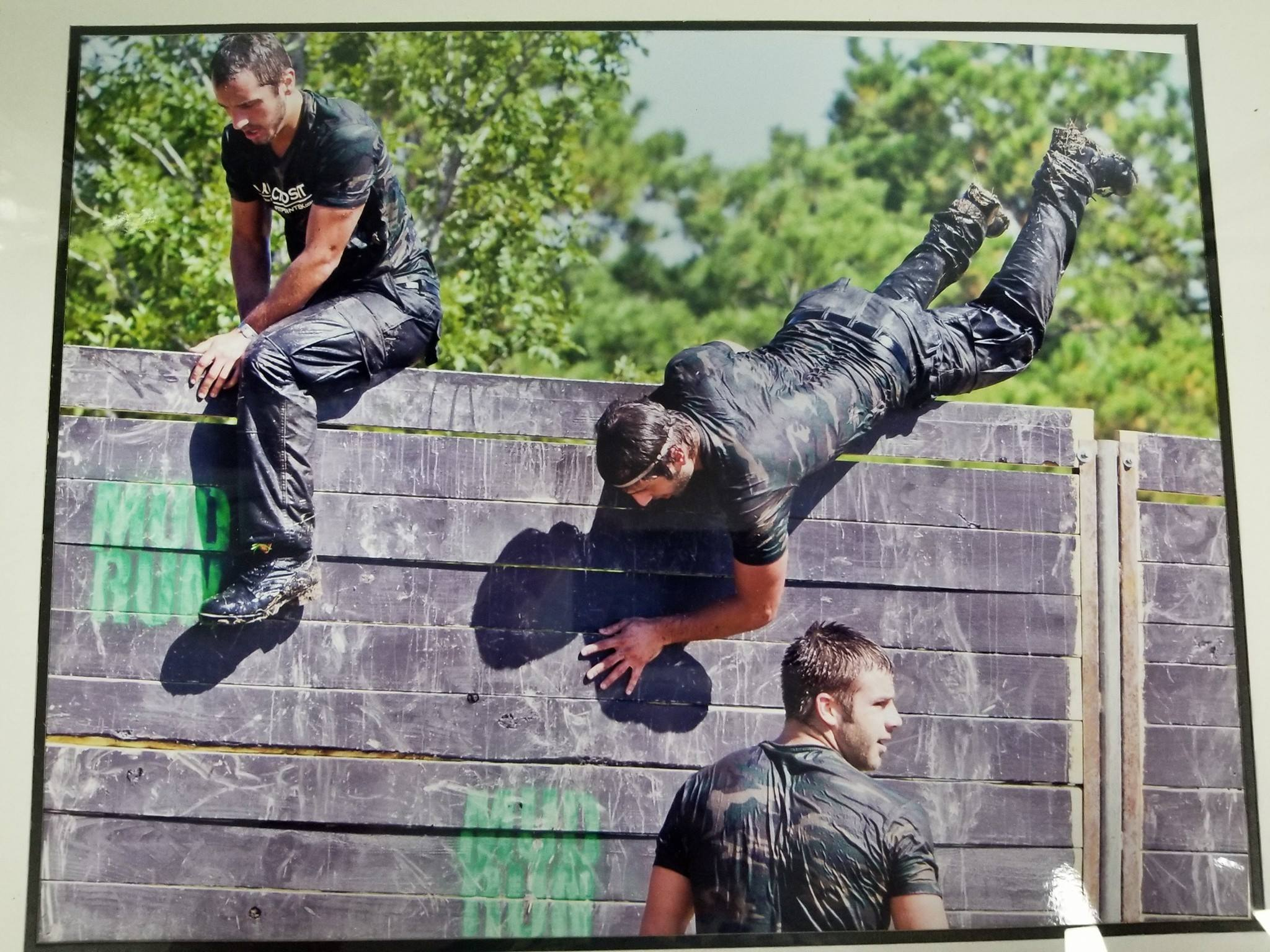 May 26th we will be having a team sign up to tackle The Original  Mud Run . This is a 10k outdoor course with over 20 obstacles along the way. On top of that the course has to be done in Boots and Pants. To prepare for the race we will be doing a 6 week camp meeting every Sunday at 11am starting April 15th. We will be doing specific training to prepare for the Mud Run. If interested please sign up at front desk.  Here is a picture of the original owners of Skyline CrossFit tackling the Mud Run in 2011.