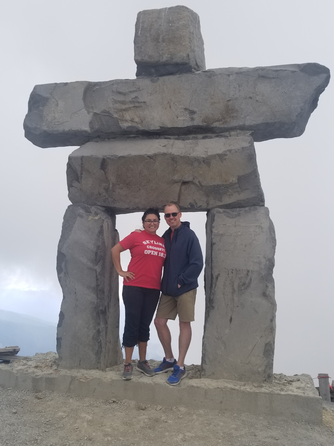 Angie Turner who has also lost weight since signing up with Skyline is enjoying herself with husband in hand all the way up in Whistler, BC, Canada.