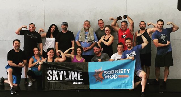 Sobriety WOD held every Sunday at 11am at Skyline CrossFit.
