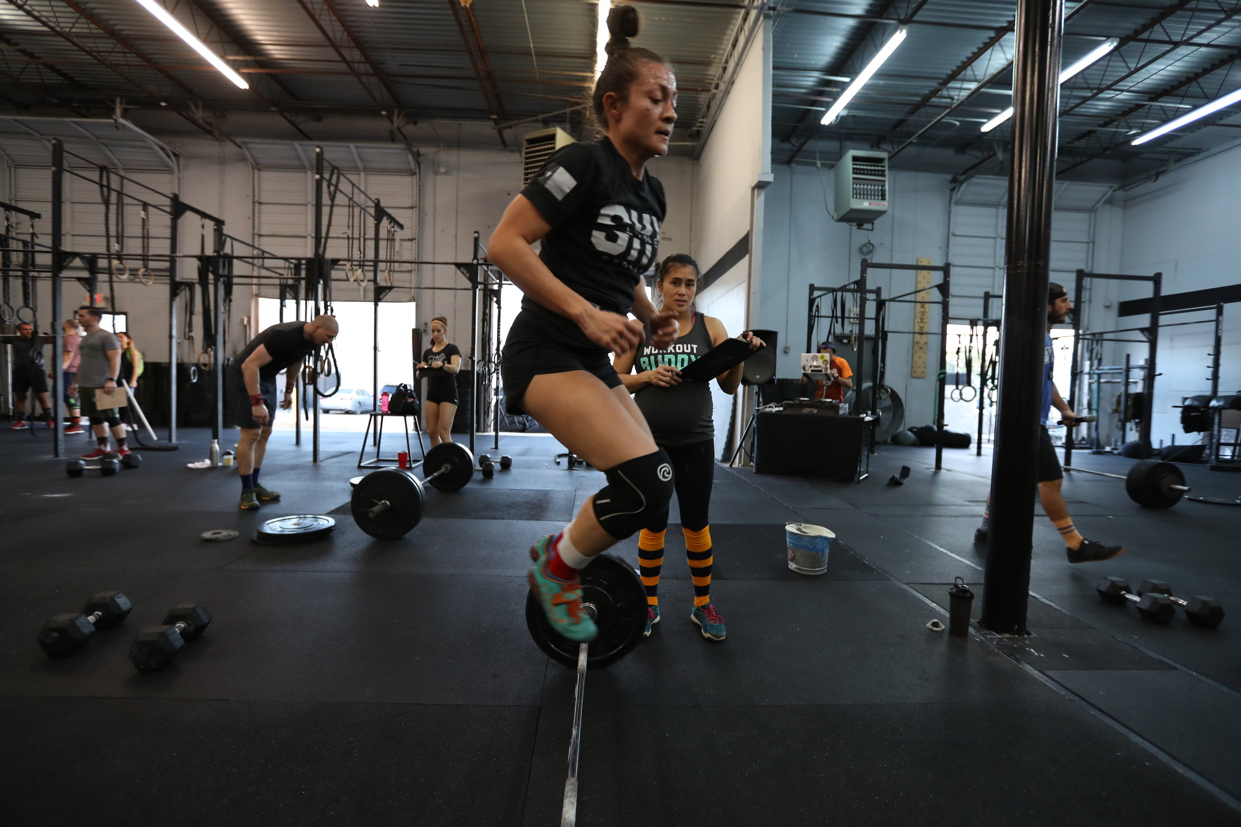 Isabel doing burpees over bar last year.  Hoping for a quick recovery post surgery!