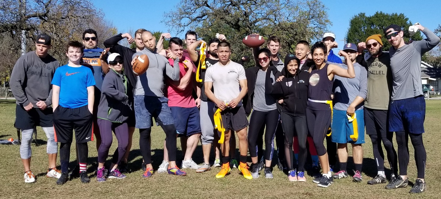 Thanks everyone for showing up for our Park WOD and Flag Football Game with CrossFit Be Someone. It was a lot of fun and expect more of this in the future!