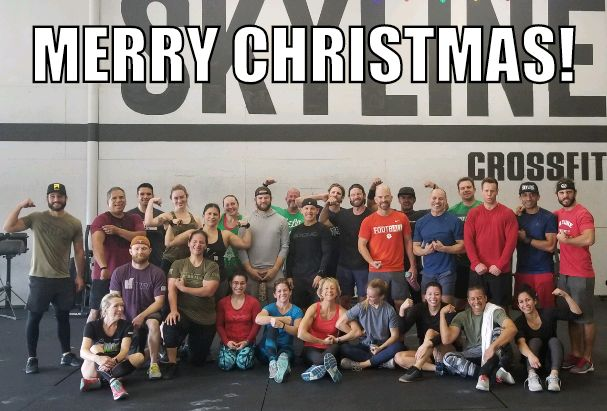 Our annual Christmas Eve 12 days of Christmas WOD was a success!