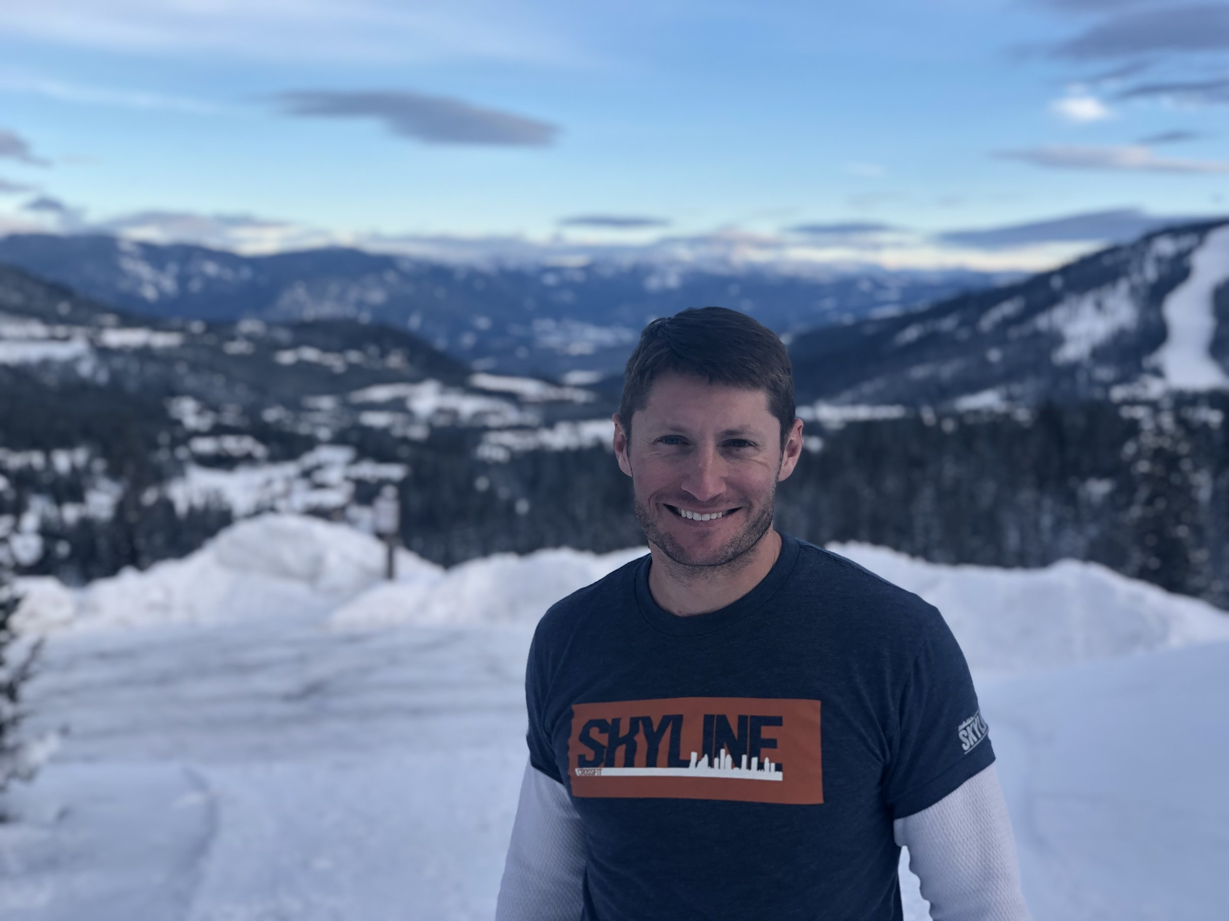 Andrew Thompson repping Skyline on Big Sky Mountain.