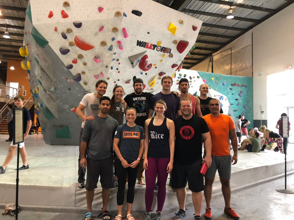 Great group for climbing this weekend at Momentum climbing gym!
