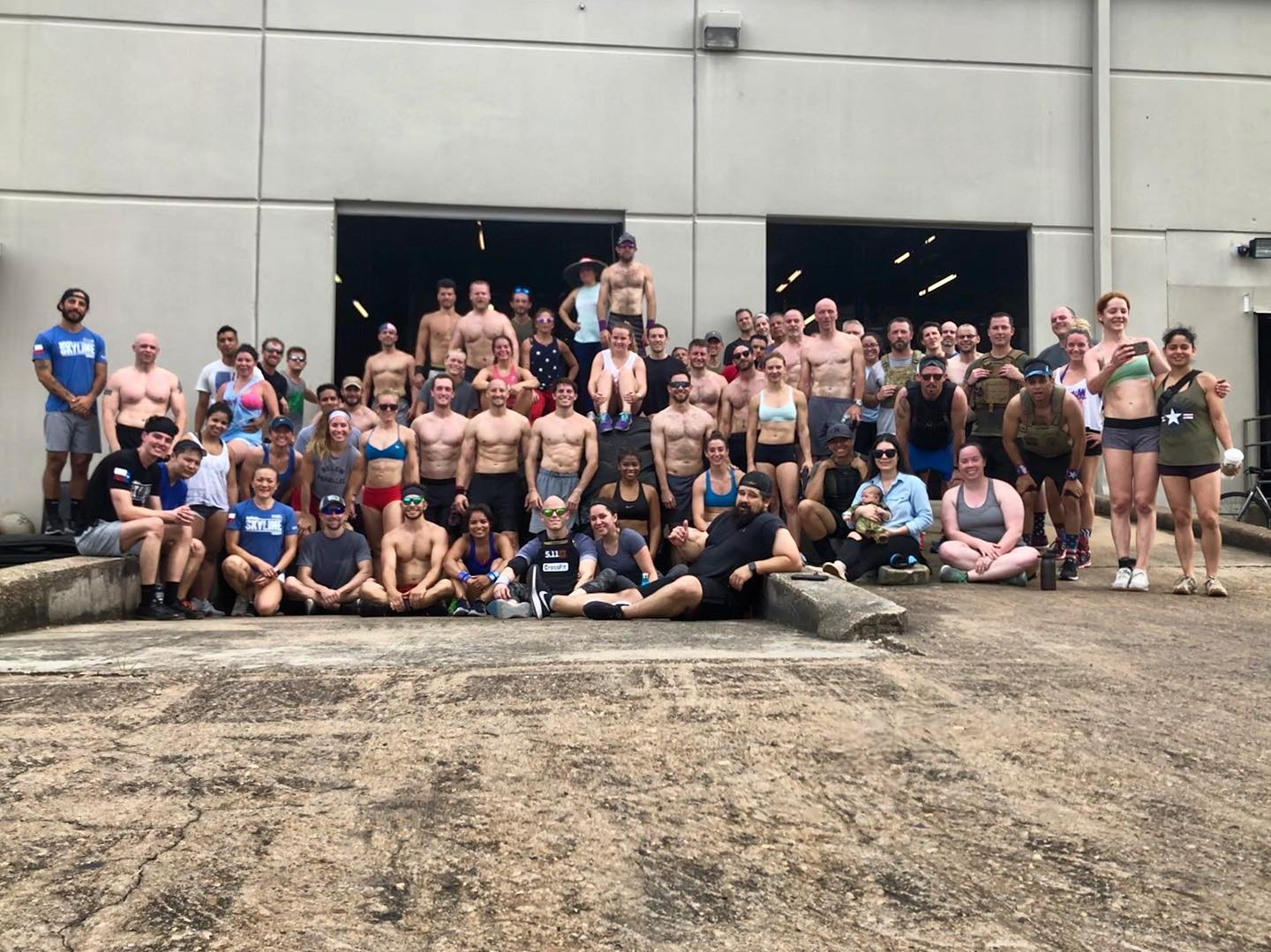 Heres is a picture who participated in Murph on Memorial Day.  With all of you help we donated $455 to the National Coalition of Homeless Veterans.  Nice work!