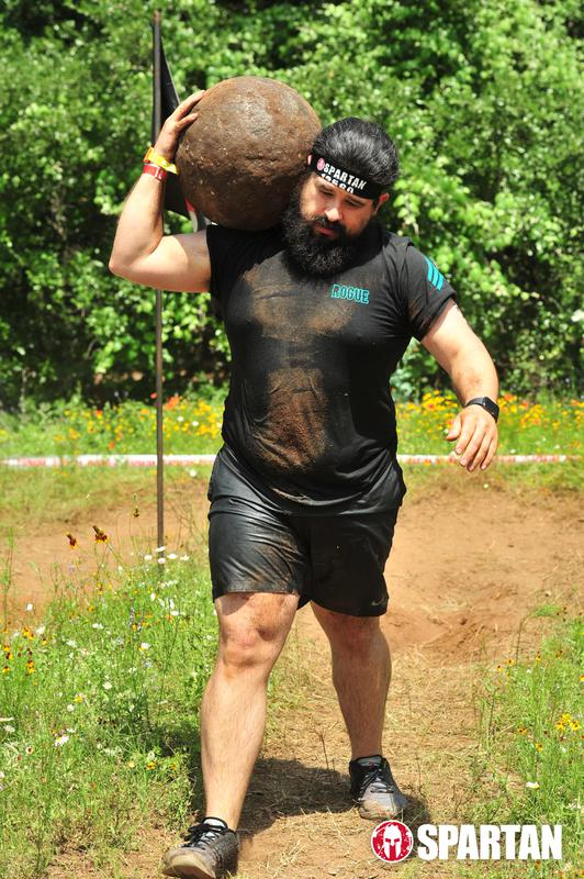 Here is Skyline newcomer Fred Cano making easy work of the atlas stone carry during his first Spartan race!