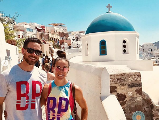 Ryan  and Chelsea Bailey repping Houston CrossFit in Greece.