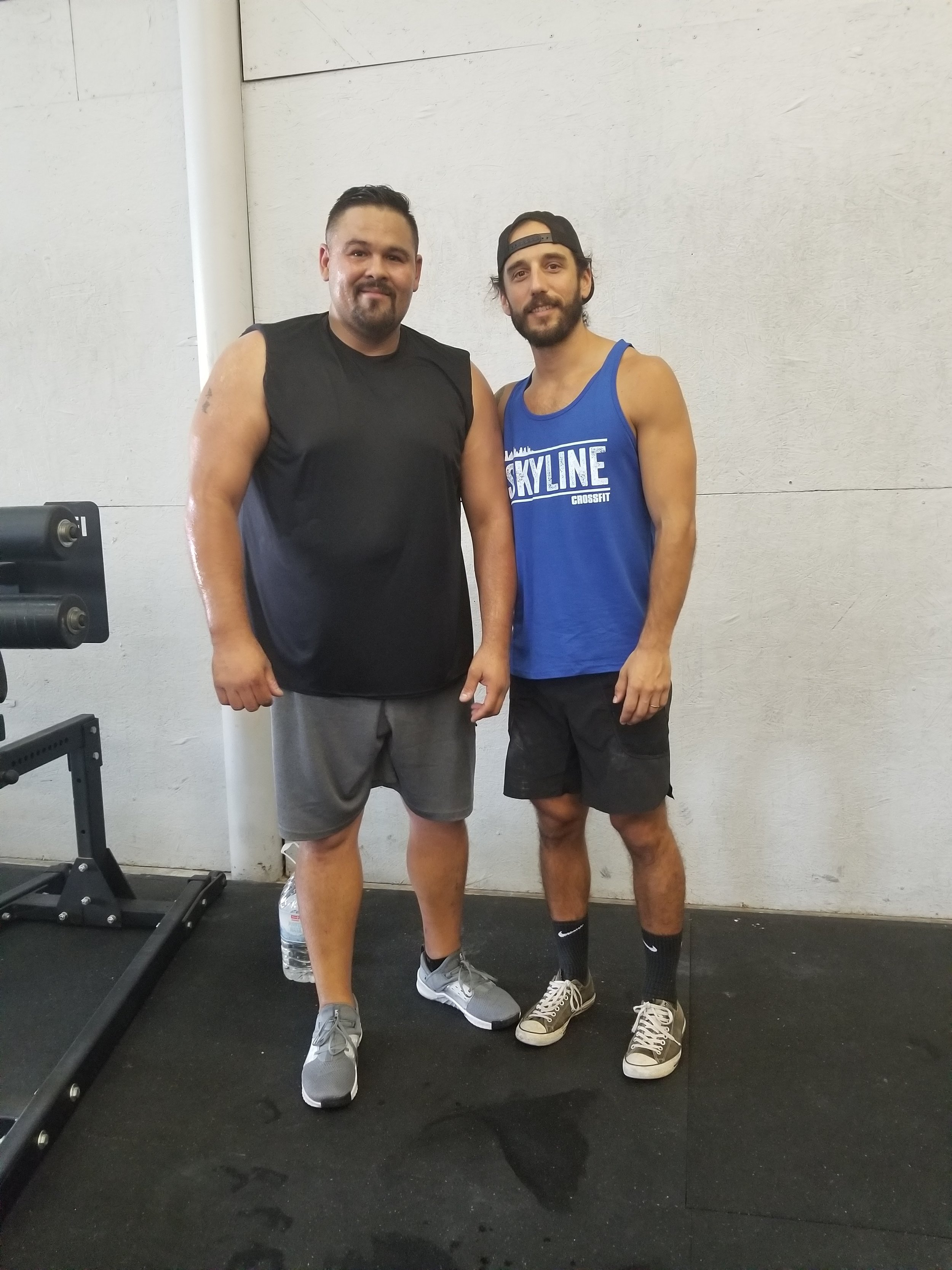 Welcome Abe Tovar to Skyline CrossFit. He just graduated his foundations. Abe was referred here by his friend Aldo and you can see both of them at the 4pm evening classes!