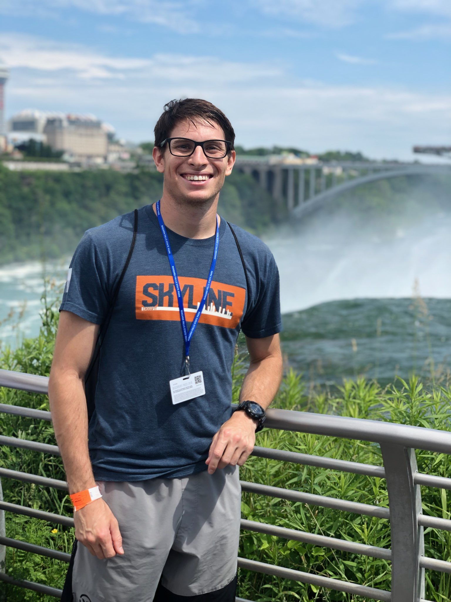 Vincent repping Skyline at Niagara Falls last month.