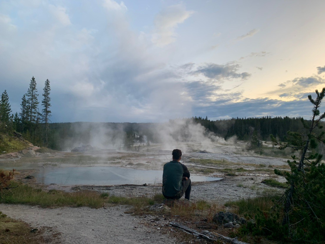 Russel and Nienke at Yellowstone Park
