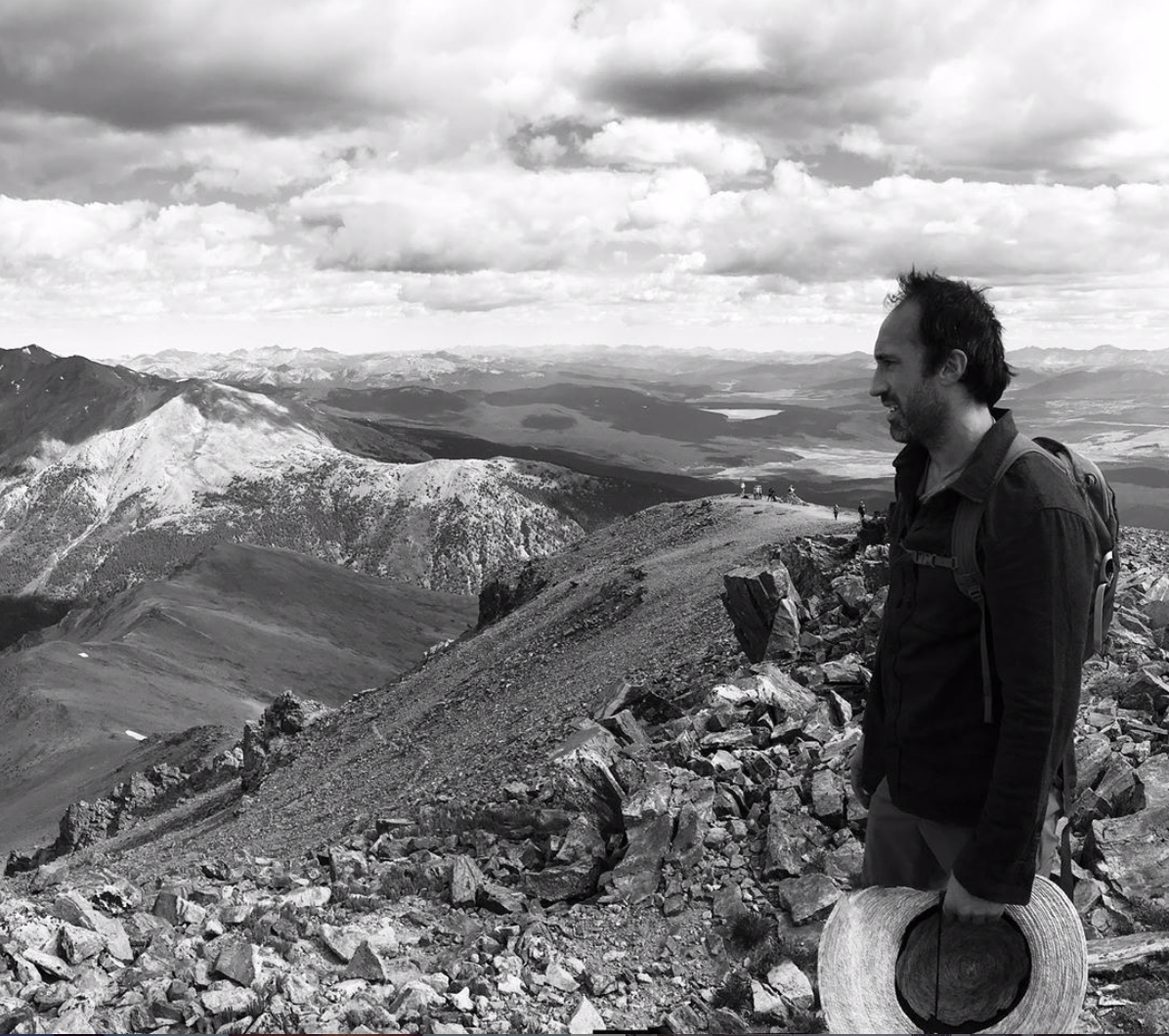 Matt Flannigan atop Mt. Elbert.