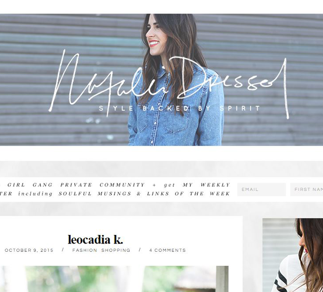LK on Natalie Dressed Blog