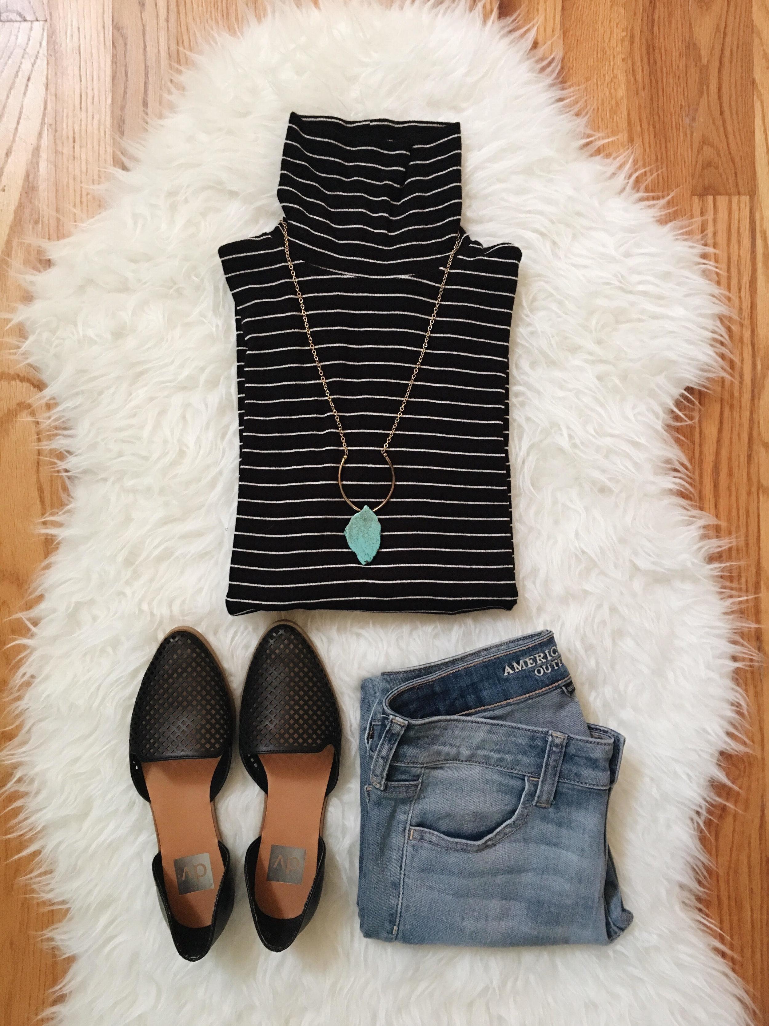 Leocadia K. Necklace  //  Target Top  //  American Eagle Jeans    //  Target Flats