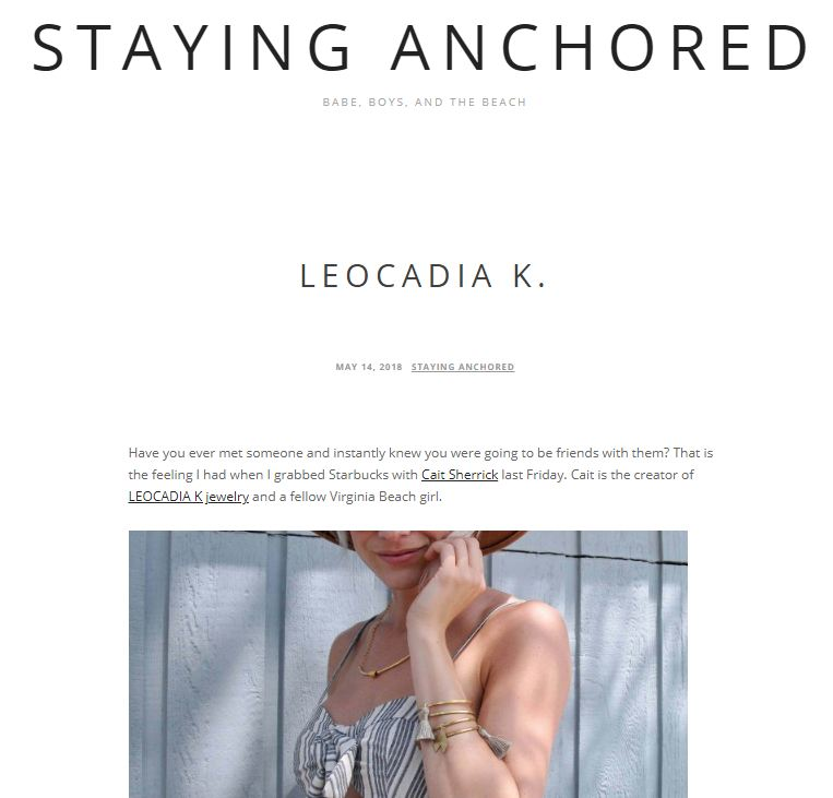 LK on Staying Anchored