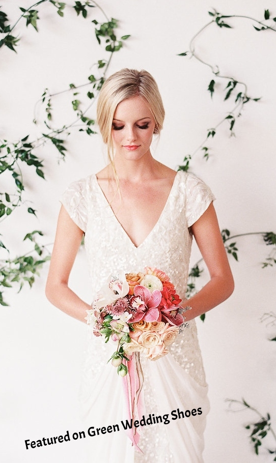This lovely shoot was featured on  Green Wedding Shoes  as well as  Hudson Loft .