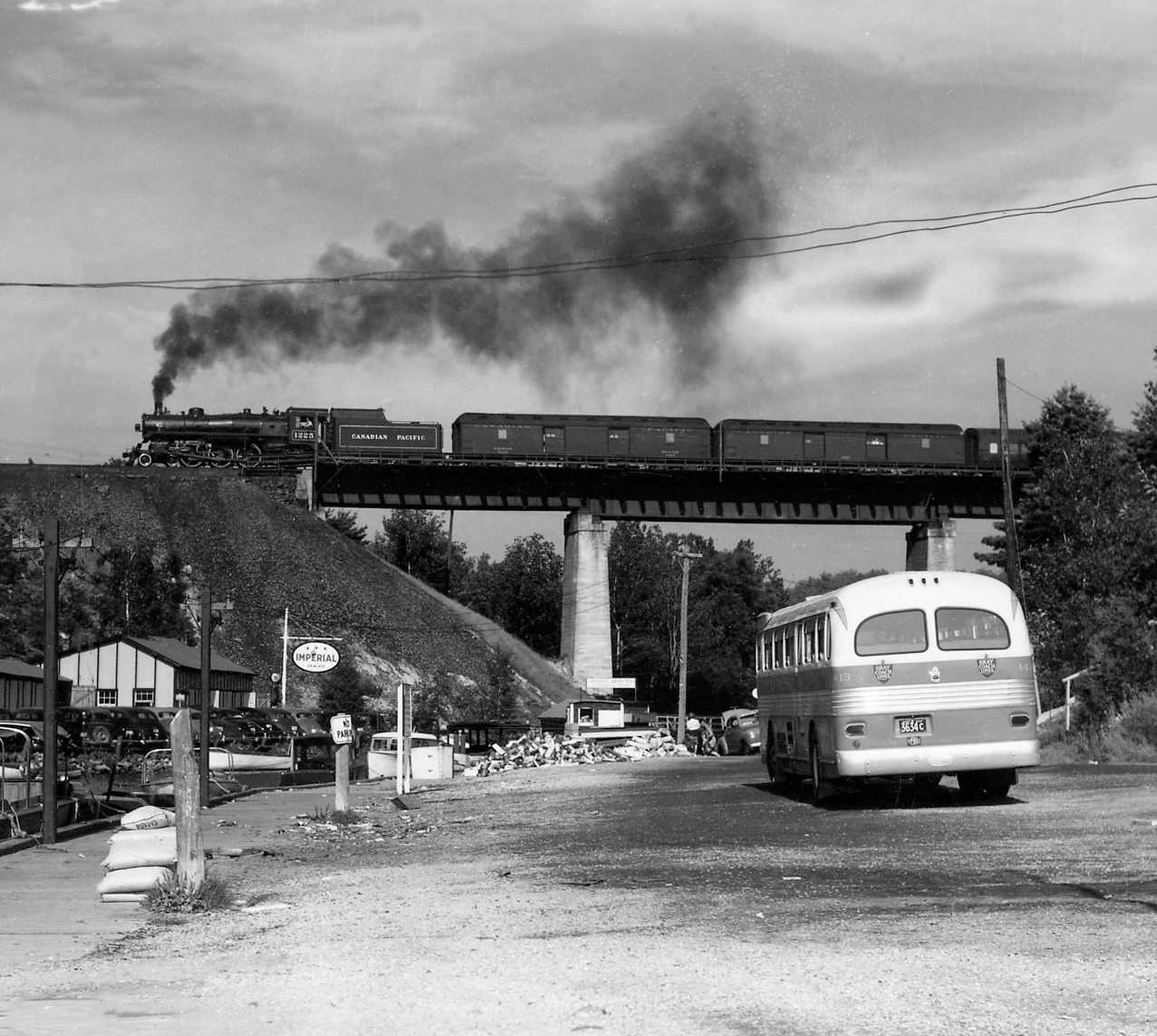 In 1954, the train made the last scheduled stop at Pointe au Baril and the station became a whistle stop.