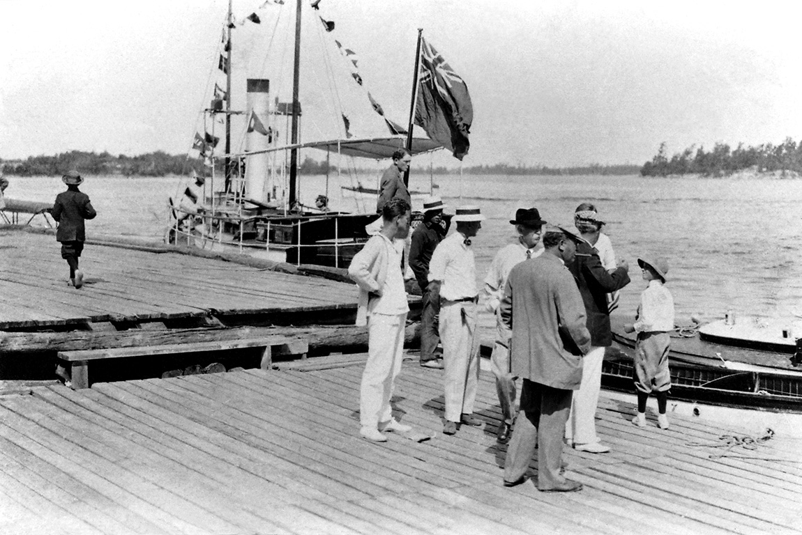 In 1908, the steamer  Cara  provided daily service between Parry Sound and the Ojibway for a fare of $1.50 return.