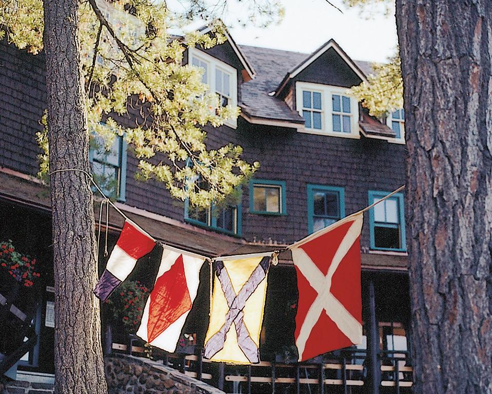 Regatta flags added to the festive air.