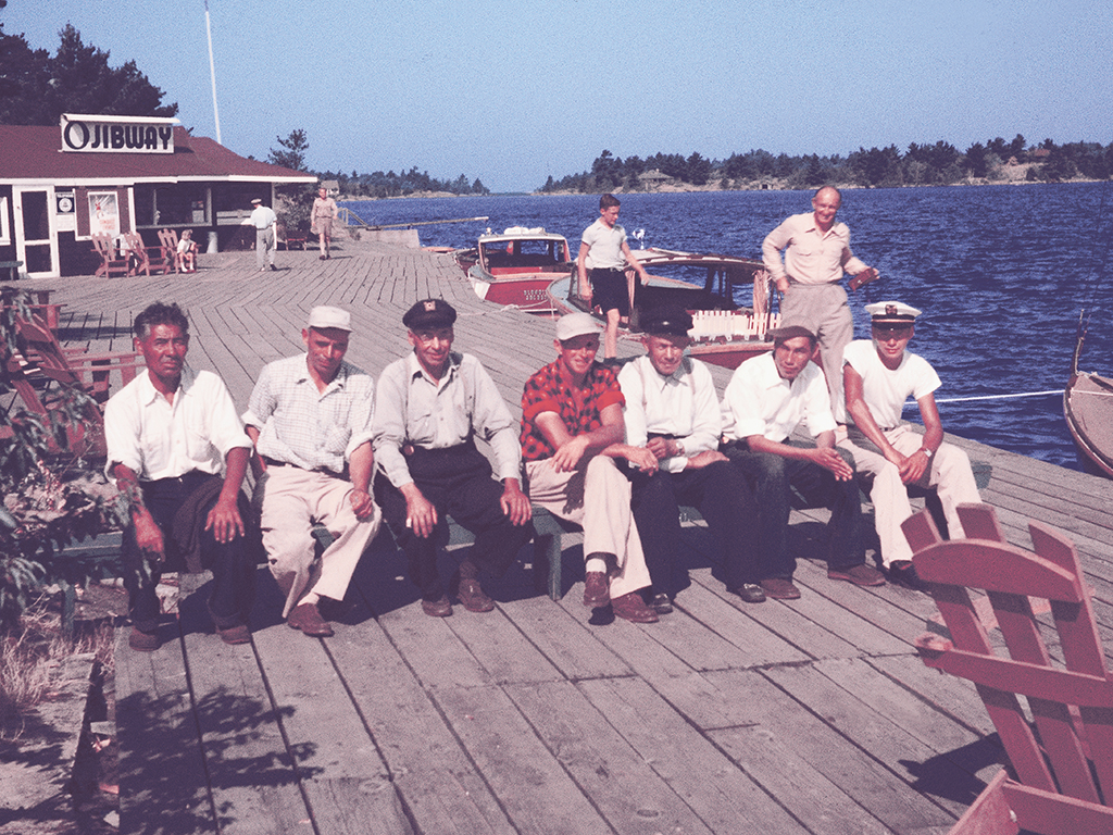 For the first 60 years of its existence, the Ojibway kept its focus on fishing. No other activity came close in importance. Until well into the 1960s, knowledgeable fishing guides who knew the shoals and bays of the area like the back of their hands were a critical part of the hotel's daily life.
