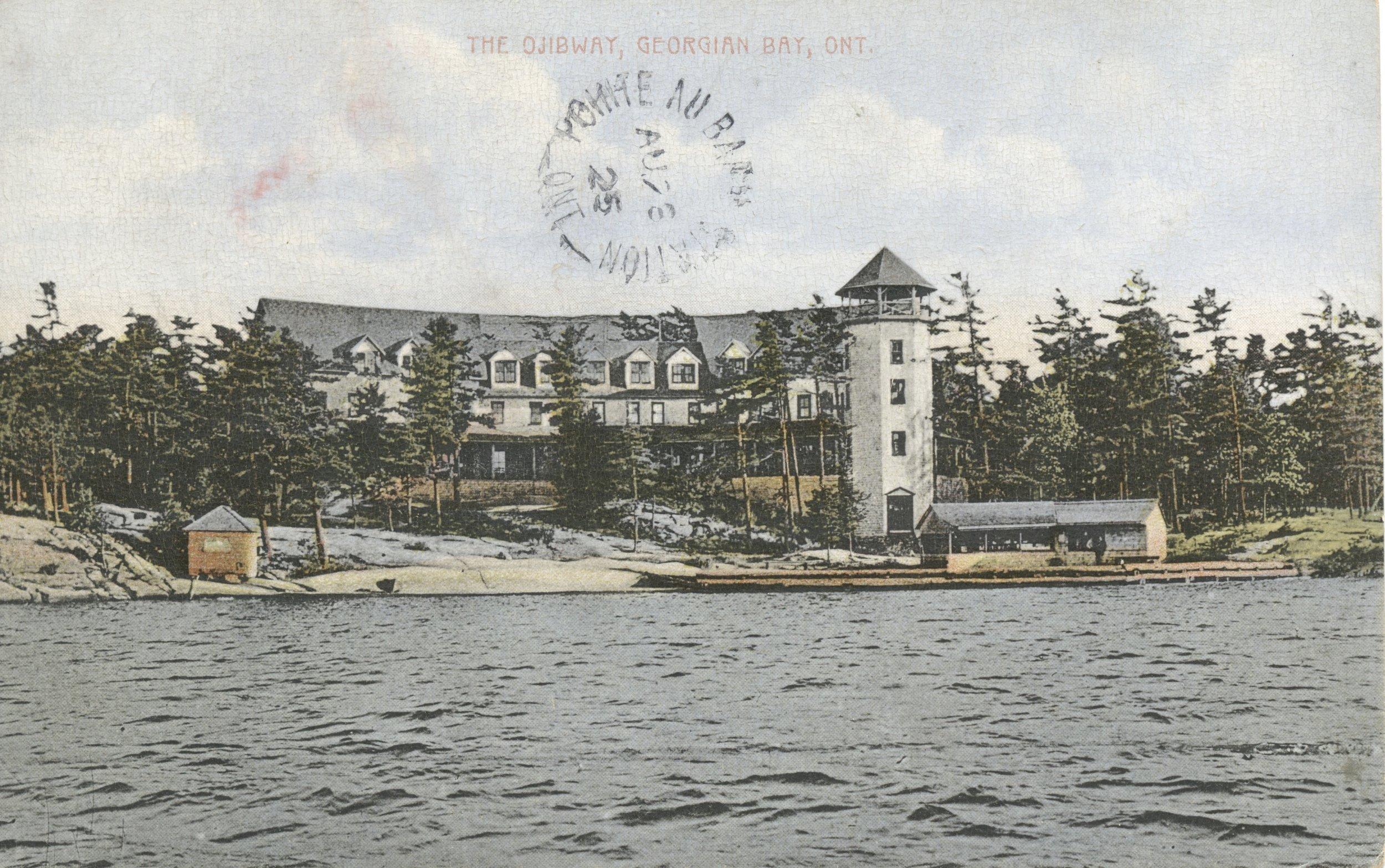 Ojibway Hotel Postcard 1925