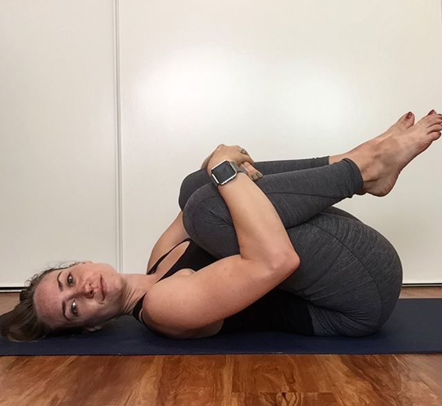 The most delicious low back stretch, I love just lying here- rocking side to side or making circles with my knees to give my low back a gentle massage. . . . . #yogapractice #lowbackpainrelief #lowbackstretch #yogaposes