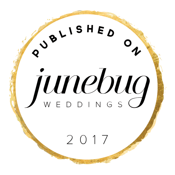 - So excited to announce that one of my favorite blogs, Junebug Weddings, is featuring Olivia & Kyu's wedding today!