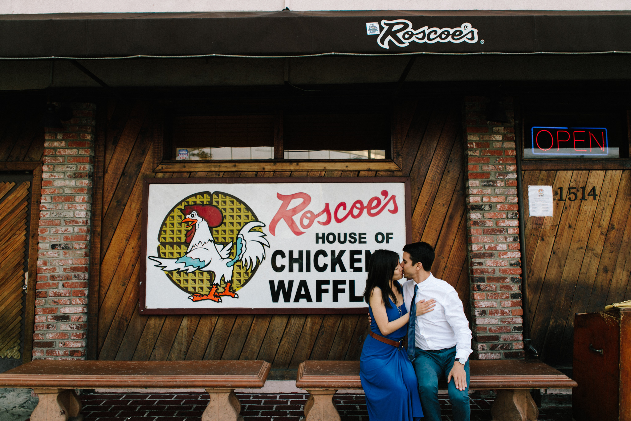 roscoes chicken and waffles engagement-100.jpg