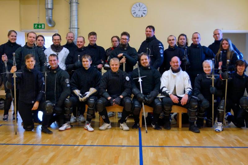 Tänä vuonna leirillä oli osallistujia parikymmentä kuudesta eri seurasta. Kuva Sara Vertanen.