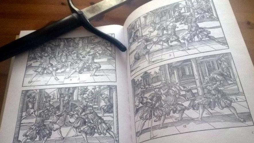 Joachim Meyerin kirjan uudelleenpainatus on selkeä ensimmäinen lähde. The Art of Combat: A German Martial Arts Treatise of 1570, Jeffrey Forgeng (Greenhill Books, 2006)