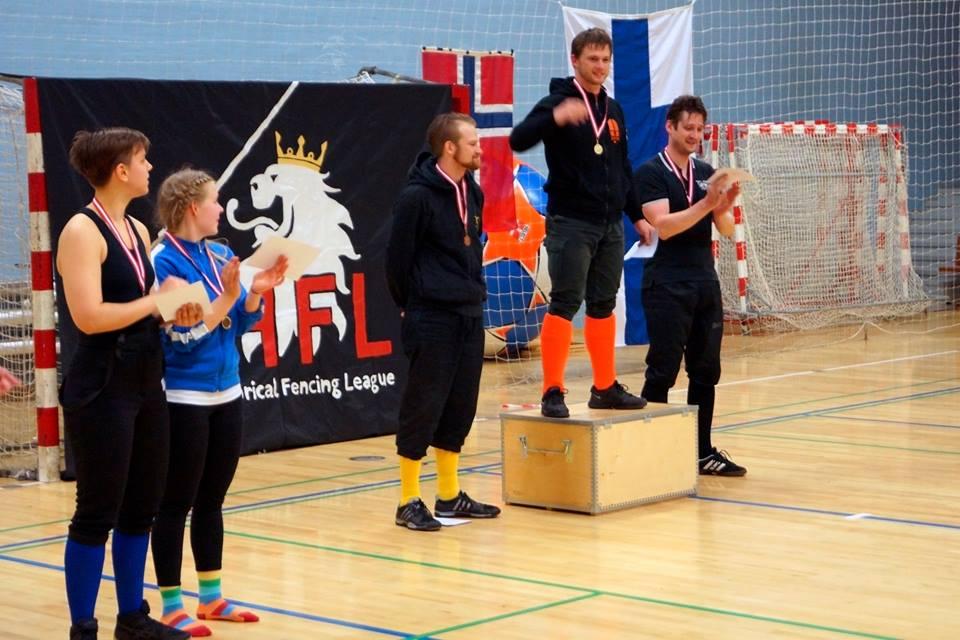 Pitkämiekan finalistitMargit Reierseniä lukuunottamatta.