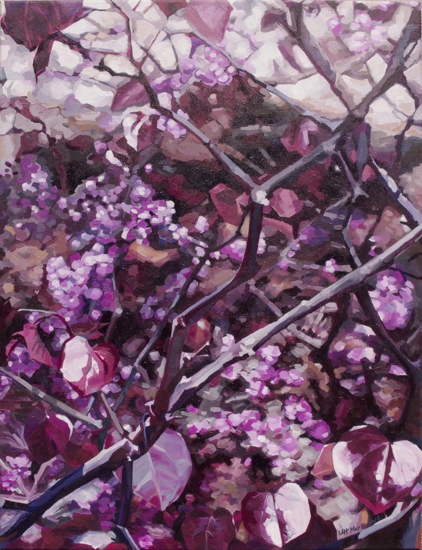Purple Heart 36%22X47%22 by Lin Lin Hu.jpg