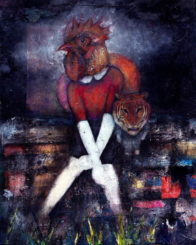 "Untitled, 2012. Mixed media. 8x10"""