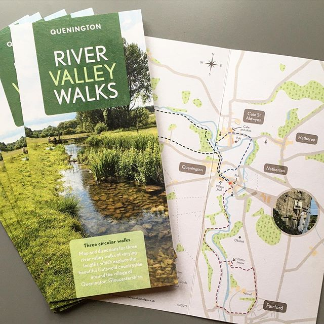 Recently completed tourist leaflet for Quenington Parish Council. They asked me to produce an illustrated map as well as design a leaflet containing three step by step walks in and around the Cotswold village of Quenington all starting from the local pub...now that's my kind of walking' 🍻 Printed on recycled FSC certified paper stock.