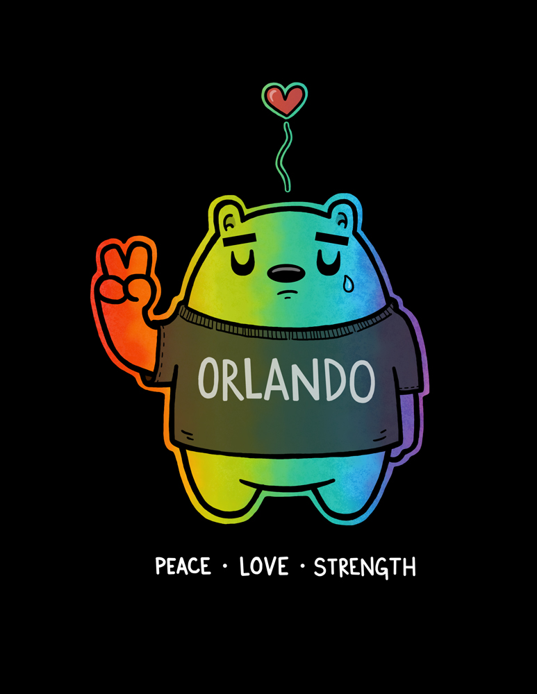 My heart and thoughts are with those in Orlando affected by such atrocious and senseless violence. It is disgusting that one man with a gun can inflict such pain and anguish on the lives of so many. Stay strong Orlando!