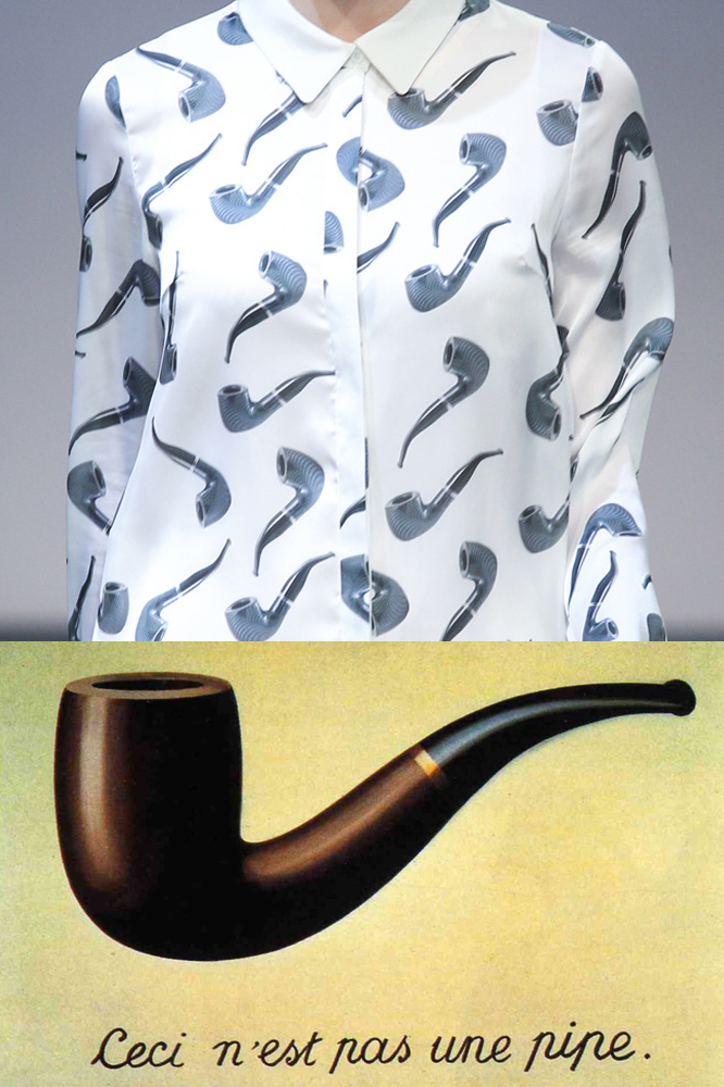 Carnet du Style (Top), René Magritte,  The Treachery of Images,  1928