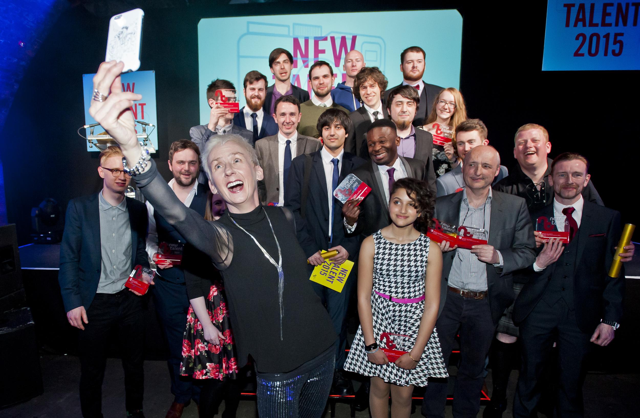 Winners of the 2015 BAFTA Scotland New Talent Awards