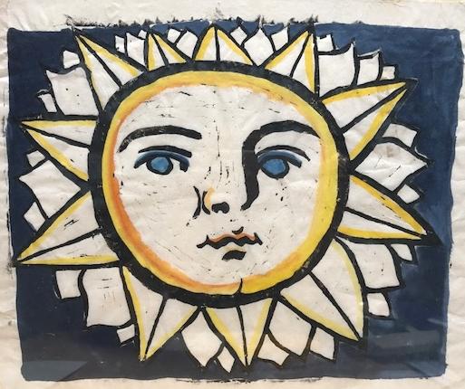 El Sol  Linolschnitt 20x 30 cm  PREIS: 80 EURO