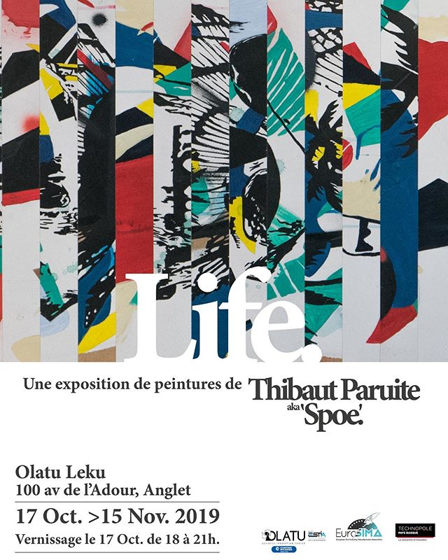 LIFE - paintings exhibition - Opening Next Thursday 17.Oct. @olatuanglet - See u there. #art #painting #soloshow  @insideurosima @chris_seiller @franckylapuerta