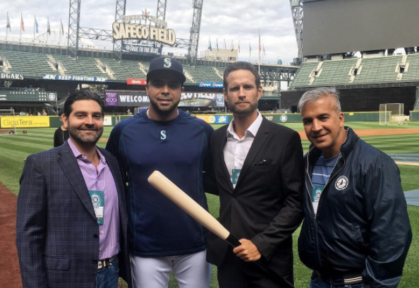 Nelson Cruz with META CEO Bryan Ingram