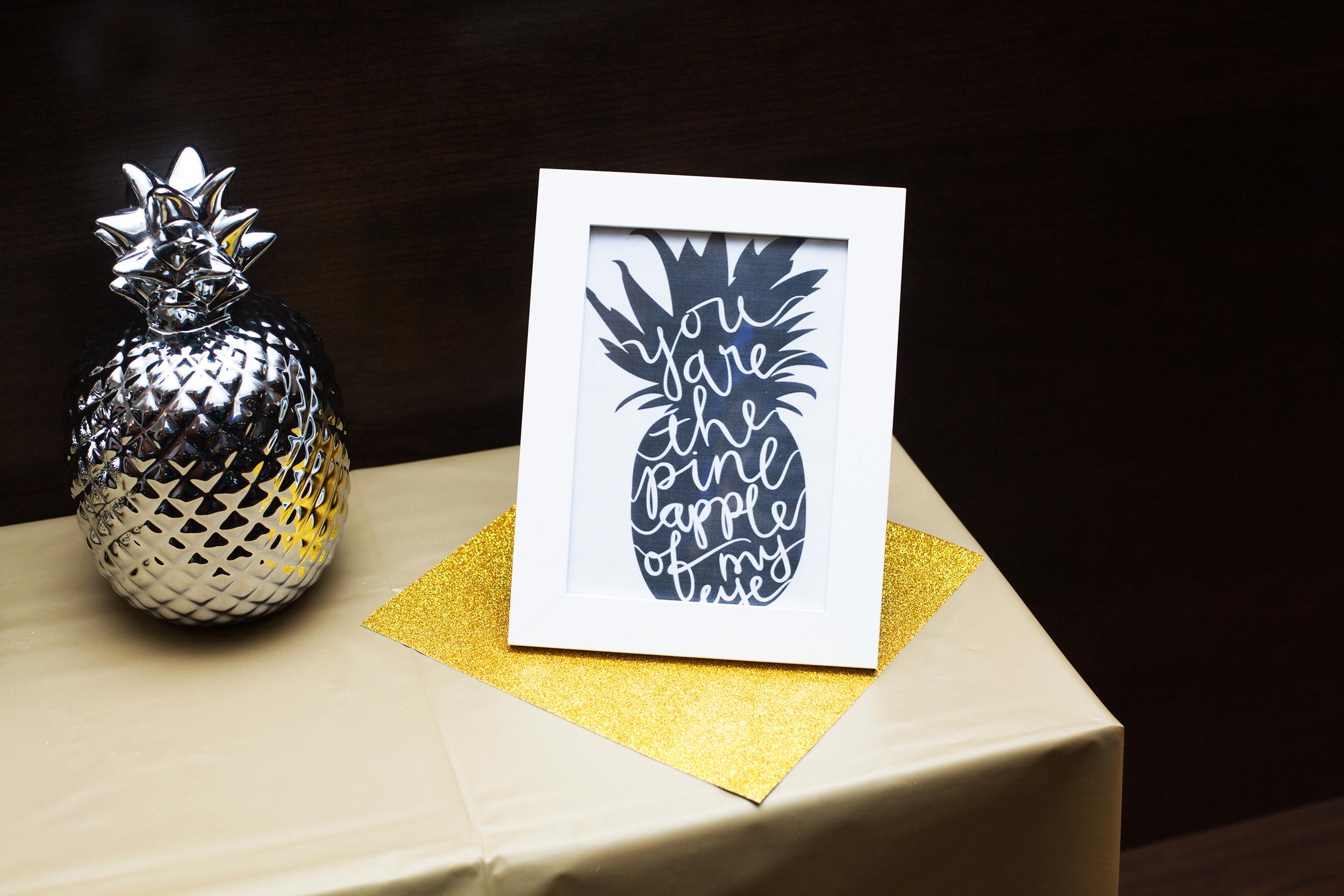 Pineapple themed shower